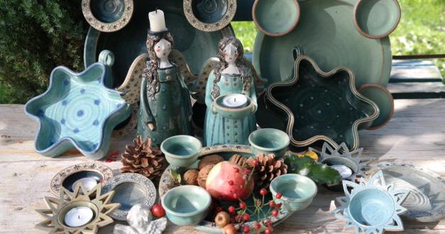 keramik f r die weihnachtszeit keramikwerkstatt baumgartner. Black Bedroom Furniture Sets. Home Design Ideas